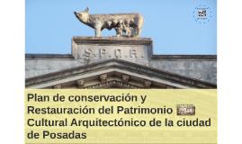 Plan de conservación y Restauración del Patrimonio Cultural