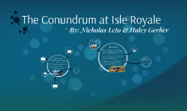 The Conundrum at Isle Royale