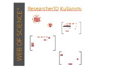 WOS - ResearcherID Kullanımı