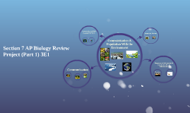 Section 7 AP Biology Review Project (Part 1)