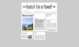Treaty 8- Fair or Flawed?
