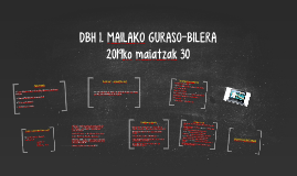 DBH 2. MAILAKO GURASO-BILERA
