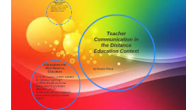Teacher Communication in the Distance Education Context