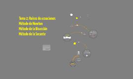 Copy of Tema 2: Raíces de ecuaciones no lineales.