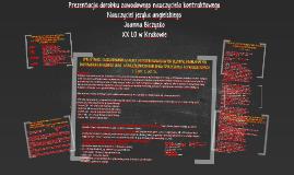 Copy of Prezentacja dorobku zawodowego nauczyciela kontraktowego