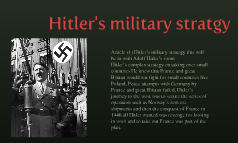 Hitler's military stratgy