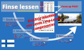 Finse lessen: Leven Lang Leren-competenties