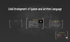Child Development of Spoken and Written Language