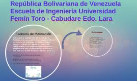 República Bolivariana de VenezuelaEscuela de Ingeniería Univ