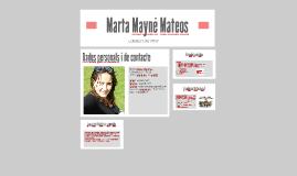 Currículum Vitae - Marta Mayné Mateos