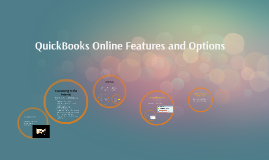QuickBooks Online Features and Options