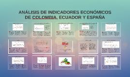 ANALISIS DE INDICADORES ECONOMICOS DE COLOMBIA, ECUADOR Y ESPAÑA