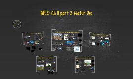 APES Ch 11 part 2: Water Use