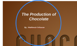 Chocolate Production  -  Flow Chart Assignment by Mathinesh Sribavan