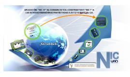"""Copy of APLICACIÓN: """"NIC 11"""" AL CONSORCIO VIAL CONSTRUCTOR Y """"NIC 1"""""""