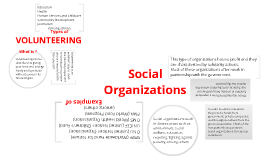 Social organizations and volunteering