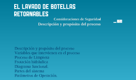 Copy of Lavado de Botellas Retornables