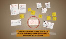 Copy of Didáctica de la literatura y educación literaria. Literatura