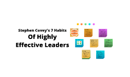 7 Habits Highly Effective Leaders