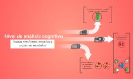 Nivel de análisis cognitivo