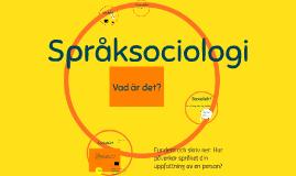 Språksociologi