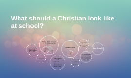 What should a Christian look like at school?