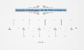Deutsche Erfindungen, die die Welt veränderten