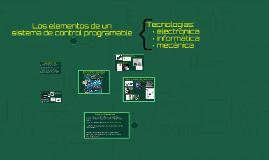 Elementos de un sistema de control