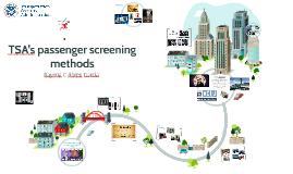 TSA's screening methods