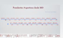 Presidentes argentinos: Línea de Presidentes Argentinos