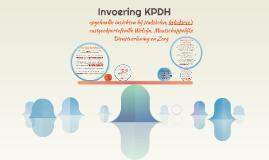 Invoering KPDH