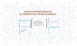 ÁMBITOS DONDE INDAGAR AL PREPARAR EL TRABAJO GRUPAL