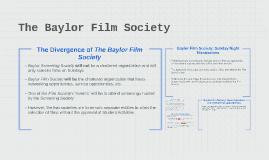 Baylor Screening Society only screens films on Sundays