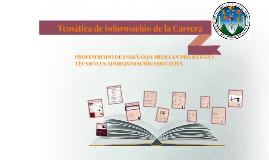 Tematica de información de la Carrera