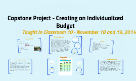 Capstone Project - Creating an Individualized Budget