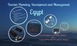 Tourism Planning, Development and Management