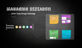 Copy of Managing research