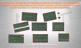 LA DEMOCRACIA INTERNA DE LOS PRINCIPALES PARTIDOS EN MÉXICO.
