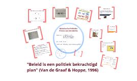 Intro beleid en politiek
