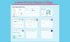 2 Mavo Oranje Nassau college