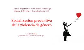 Socialización preventiva de la violencia de género