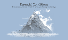 Copy of Necessary conditions to effectively leverage technology for