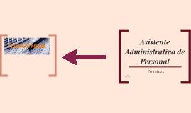Asistente Administrativo de Personal