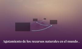 Agotamiento de los recursos naturales en el mundo