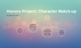 Honors Project: Character Matchup