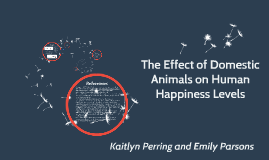 The Effect of Domestic Animals on Human Happiness Levels