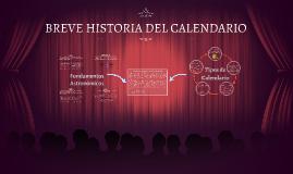 BREVE HISTORIA DEL CALENDARIO