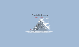 Anesthetist Meeting