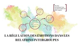 LA RÉGULATION DES ÉMOTIONS DANS LES RELATIONS INTERGROUPES