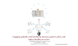 Engaging patients and families to reduce healthcare errors